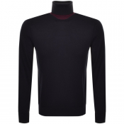 BOSS HUGO BOSS Roll Neck Knit Jumper Navy